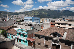 View from our balcony in Quito