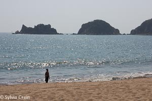 Lots of locals and a small gringo RV park right on the beach. A beautiful cove north of Manzanillo